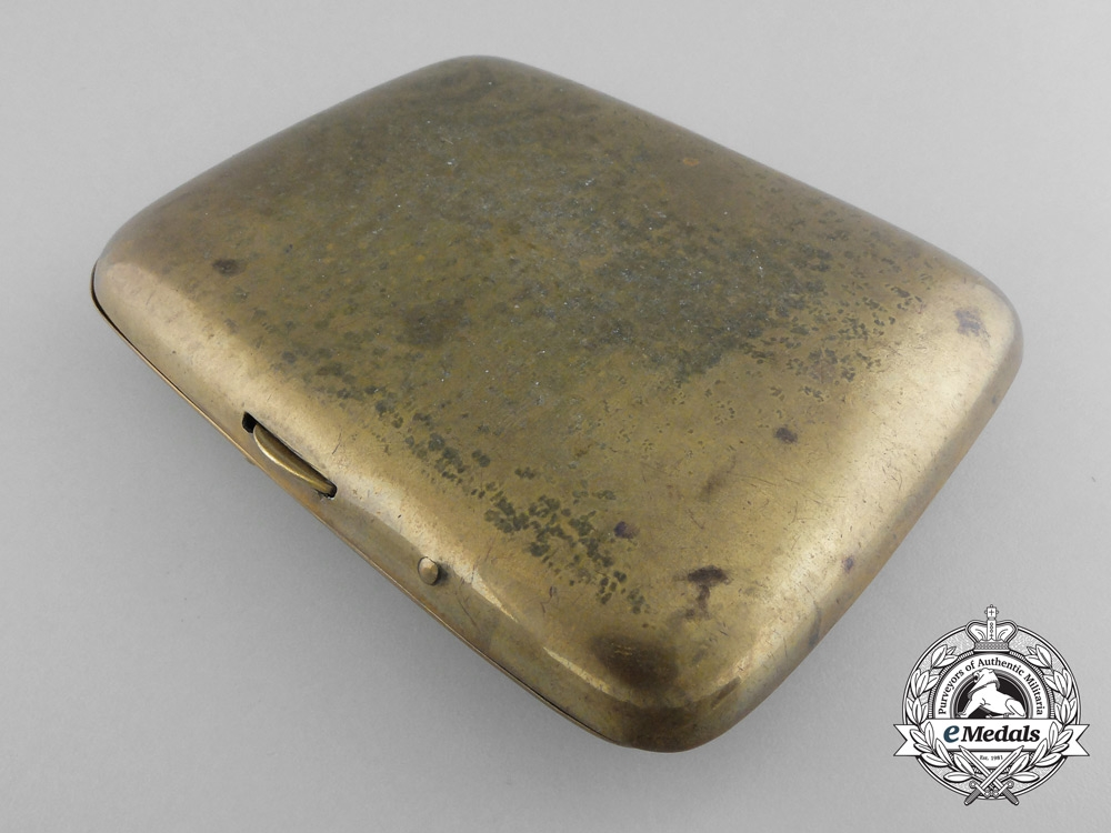 A First War German Cigarette Case with Iron Cross 1914