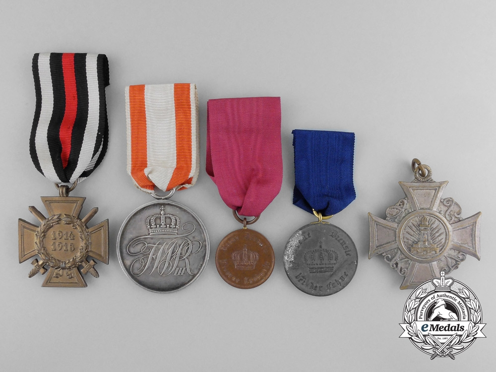 Five prussian medals awards and decorations for Awards decoration