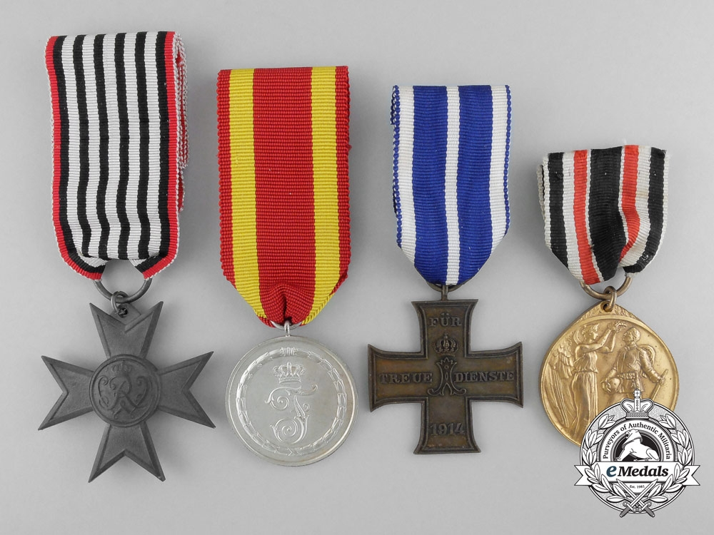 Four First War German State Medals & Awards