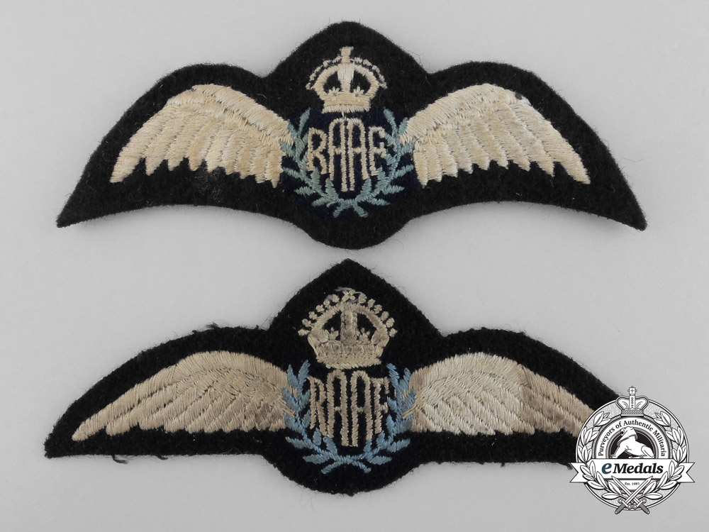 Two Second War Royal Australian Air Force Wings