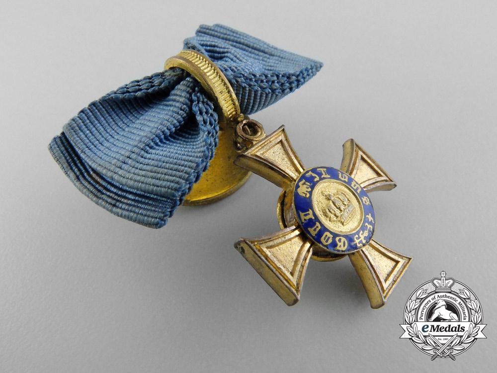 A First War Period Miniature Prussian Crown Order