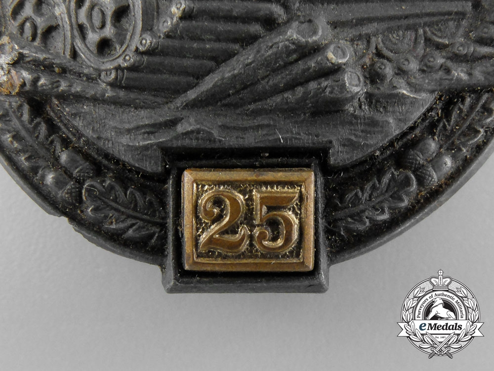 Germany, Heer. A Ground Recovered Tank Badge, Special Grade 25 by Gustav Brehmer