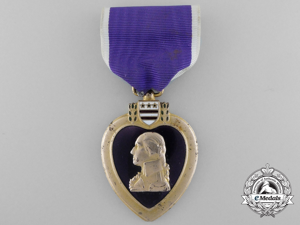 A Vietnam Period American Purple Heart; Numbered with Case