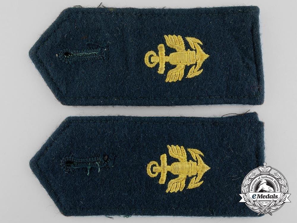 A Pair of Coastal Artillery Enlisted Man's Shoulder Boards