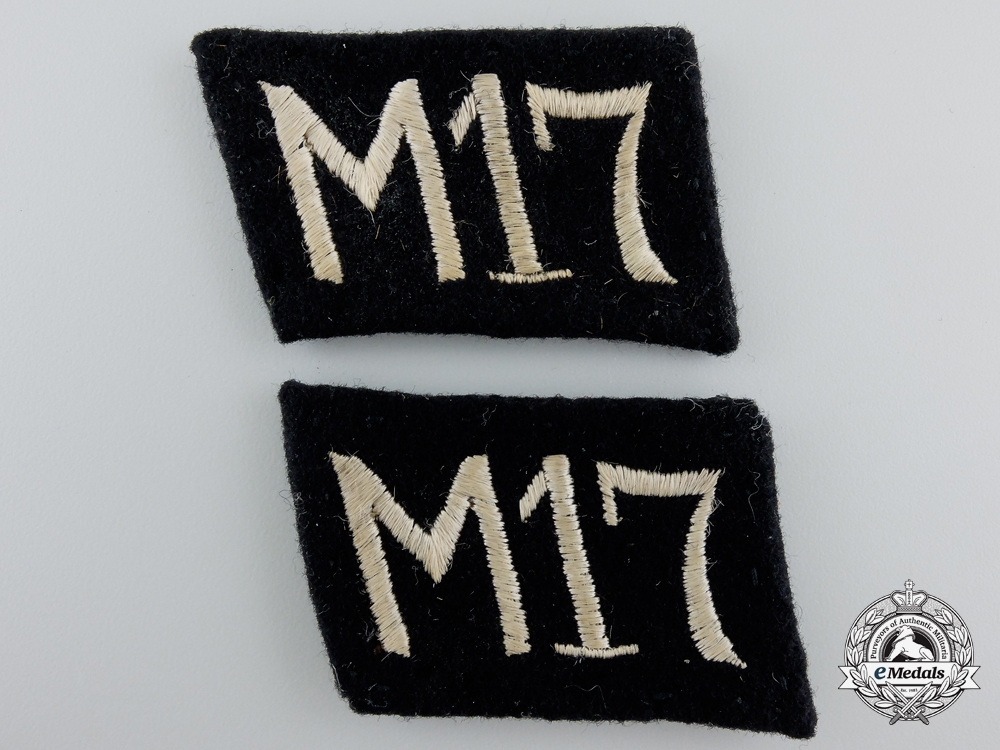 A Pair of NSKK Collar Tabs; Unit M17