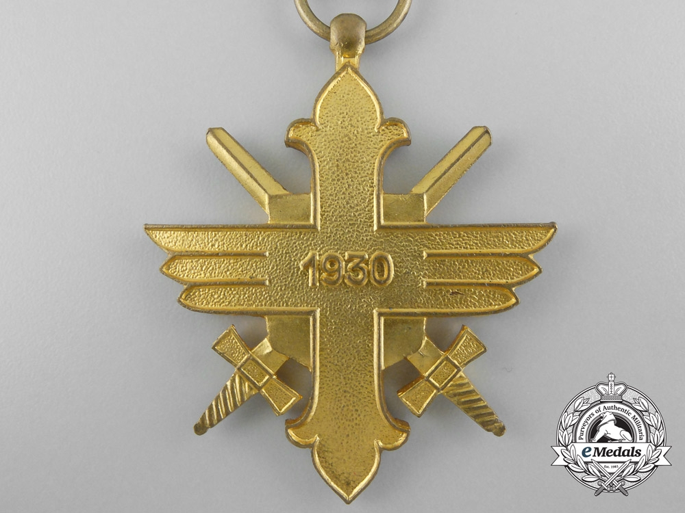 A Romanian Air Force Bravery Decoration; 1st Class