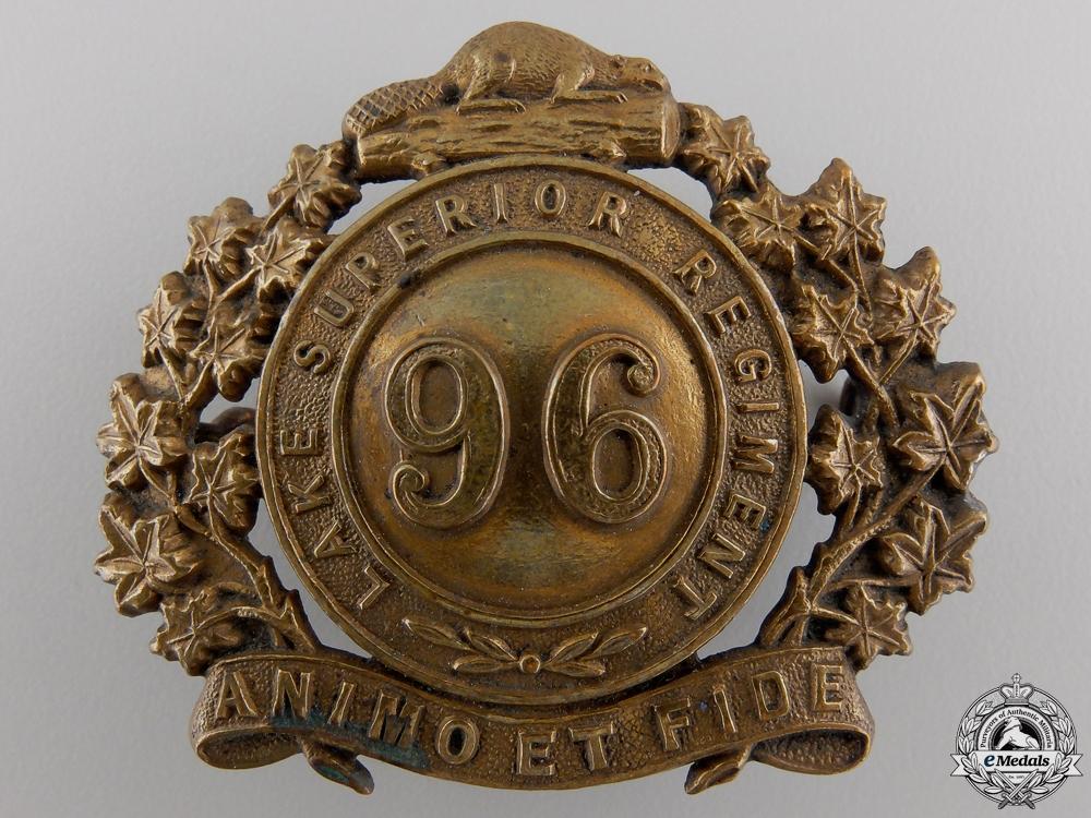 A 96th Lake Superior Regiment Cap Badge c.1910