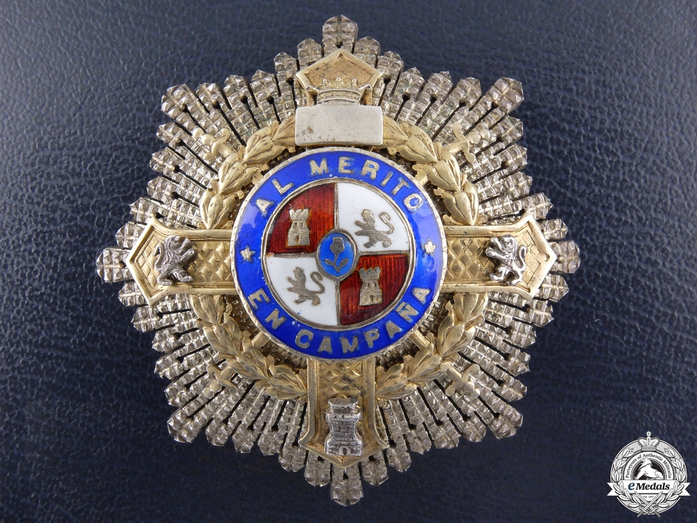 A Franco Era Spanish War Cross; Breast Star