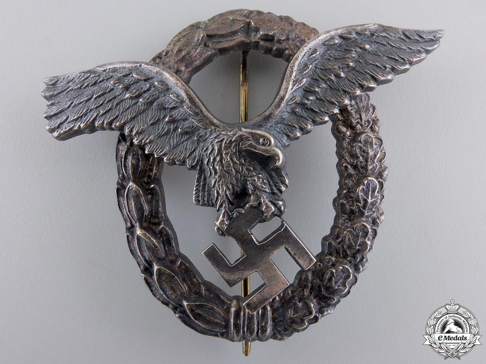 A Austrian Made Pilot's Badge by Brüder Schneider