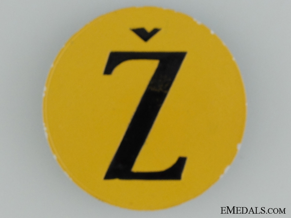 A Badge Worn by Jewish National Group