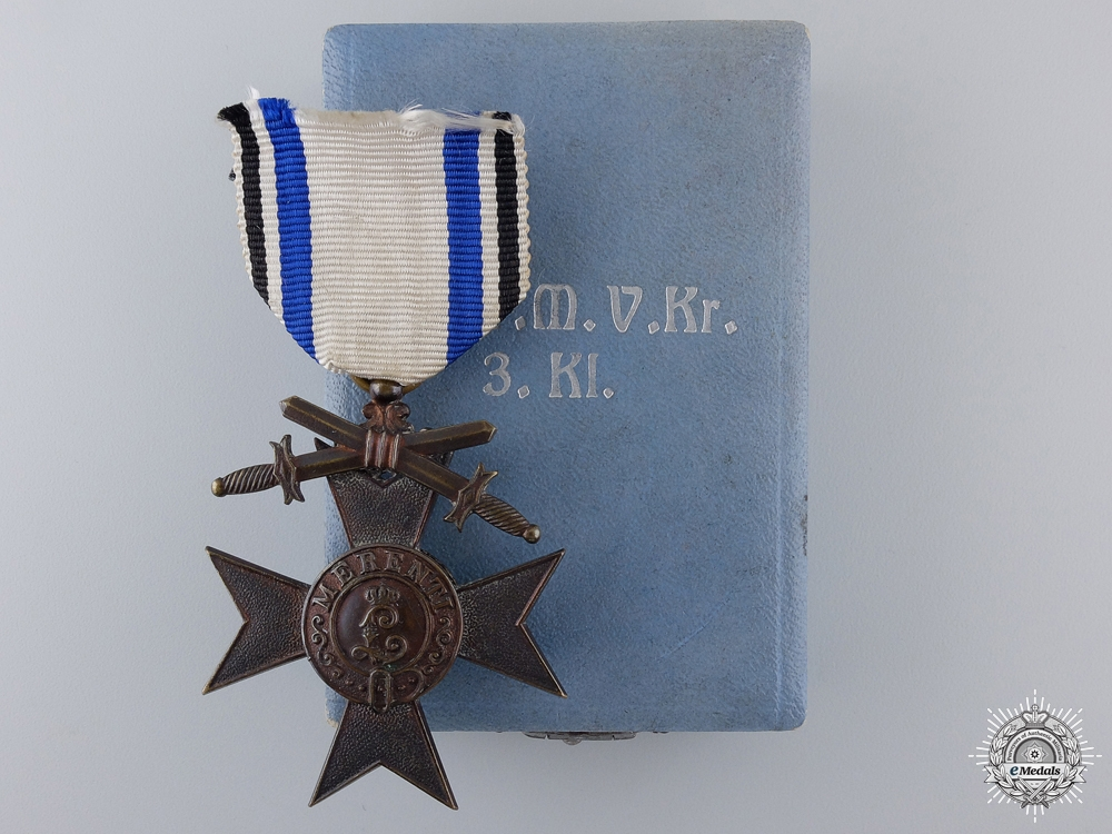 A Bavarian Military Merit Cross; 3rd Class by Deschler & Sohn