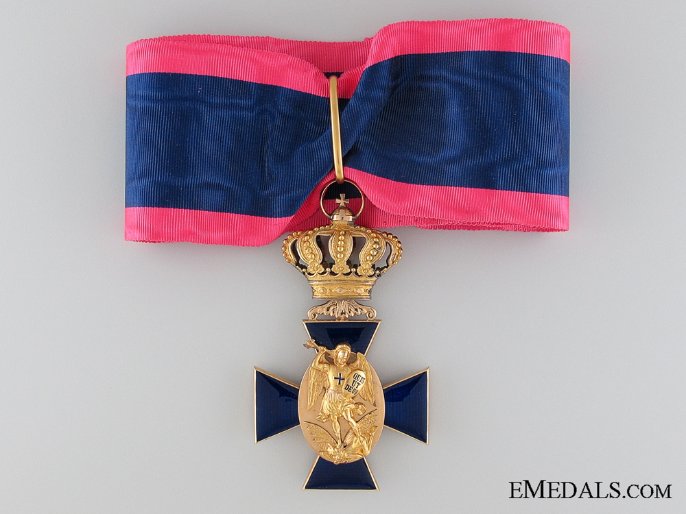A Bavarian Royal Merit Order of St. Michael in Gold; Second Class
