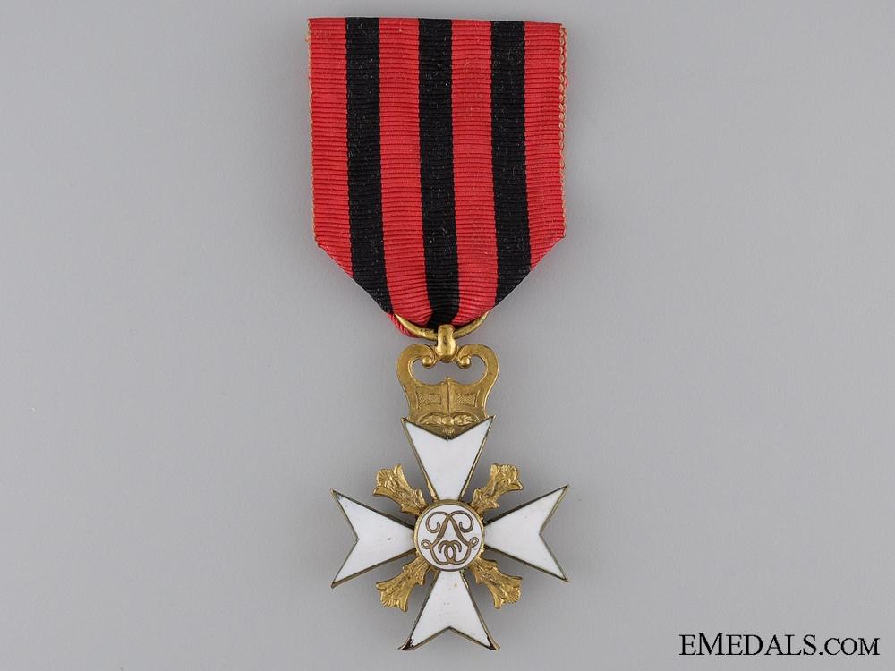 A Belgian Civil Decoration; Gold Grade Cross 1st Class  Consignment: 17