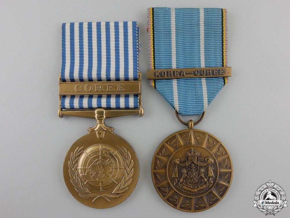 A Belgian Korean War Medal Pairing