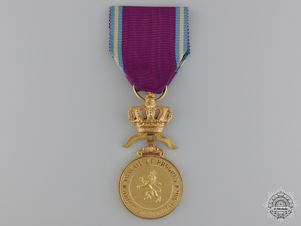 A Belgian Medal of the Royal Order of the Lion; Gold Grade