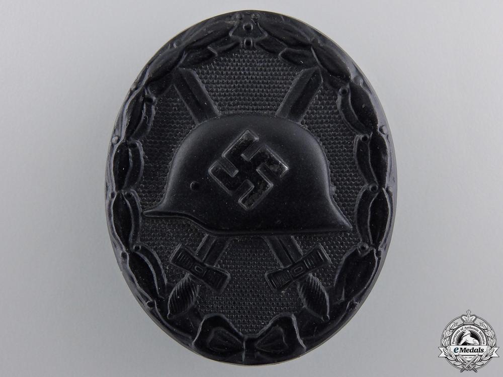 A Black Grade German Wound Badge by Wilhelm Deumer