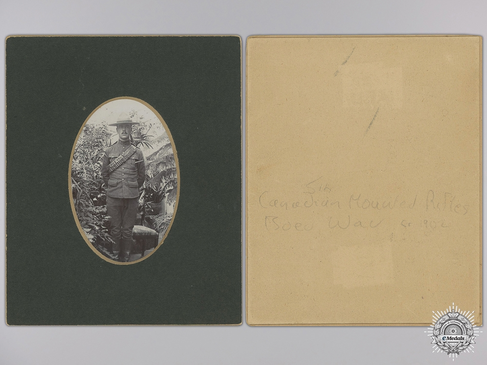 A Boer War 5th Canadian Mounted Rifles Photograph, c. 1902  consignment 14