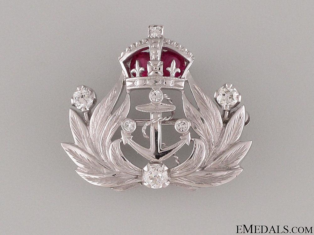 A British Gold, Rubies & Diamonds Naval Brooch