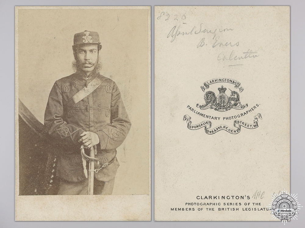 A British Indian Army Medical Officer Photograph; Surgeon Benjamin Evers