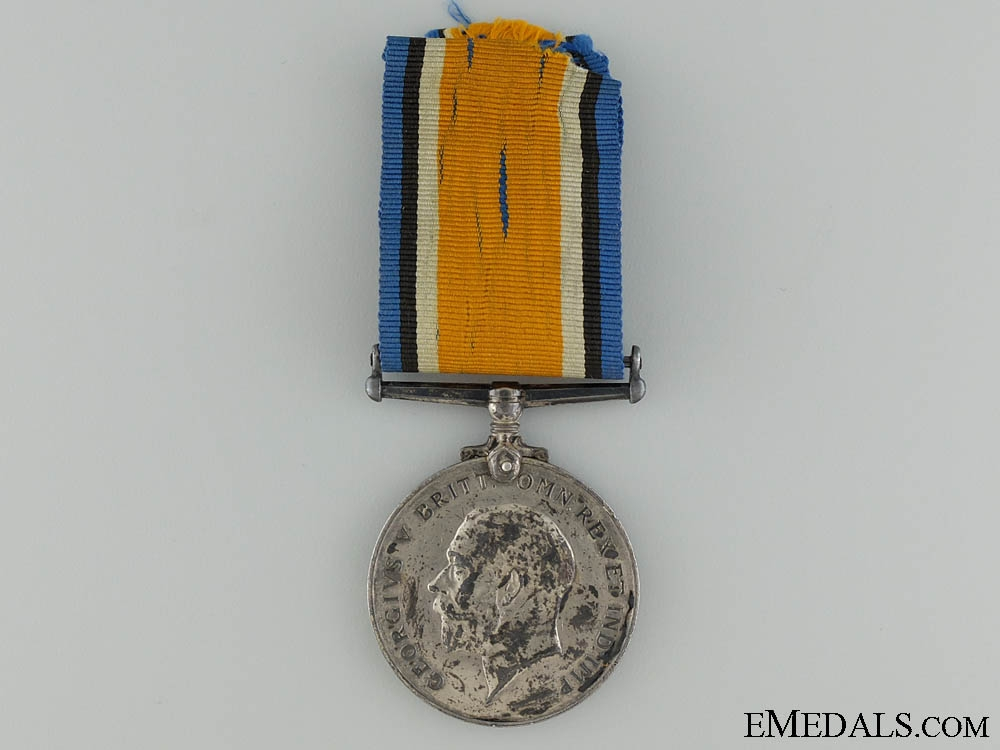 A British War Medal to the 116th Canadian Infantry Battalion
