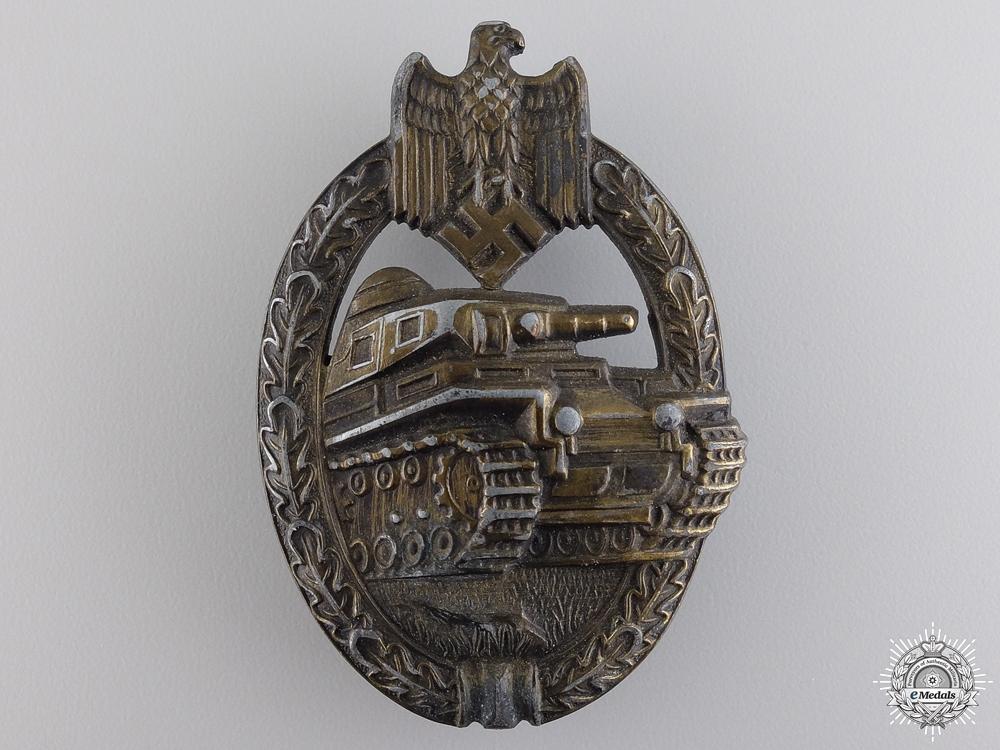 A Bronze Grade Tank Badge by Rudolf A Karneth & Named