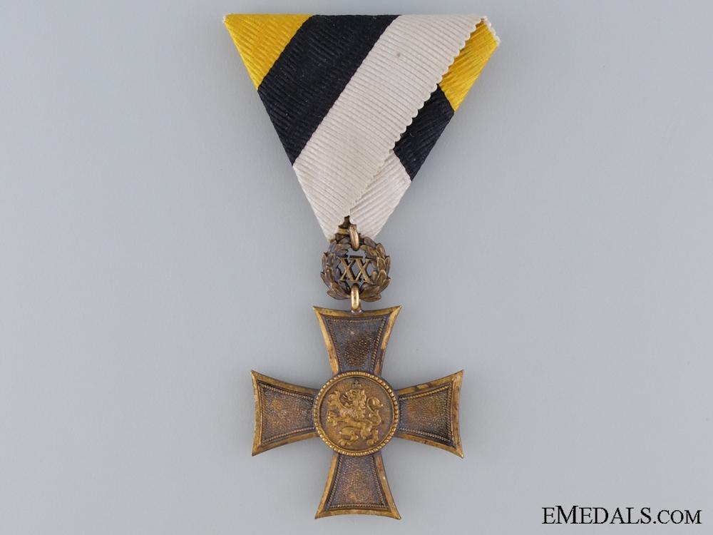 A Bulgarian NCO's Bronze Cross for Twenty Years' Service; Type II