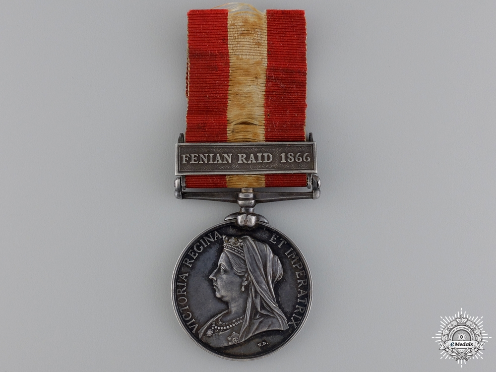 A Canada General Service Medal to the Q.O.R.; Ridgeway Participant   Consignment: 22