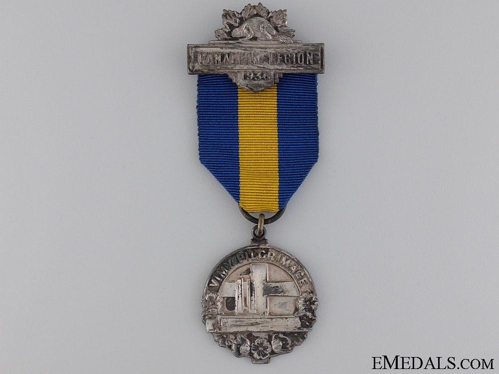 A Canadian Legion Vimy Pilgrimage Participant's Medal 1936
