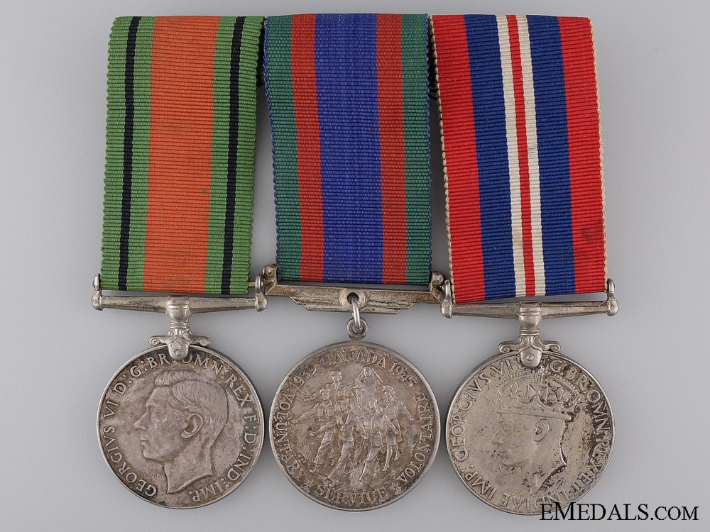 A Canadian Second War Medal Group of Three