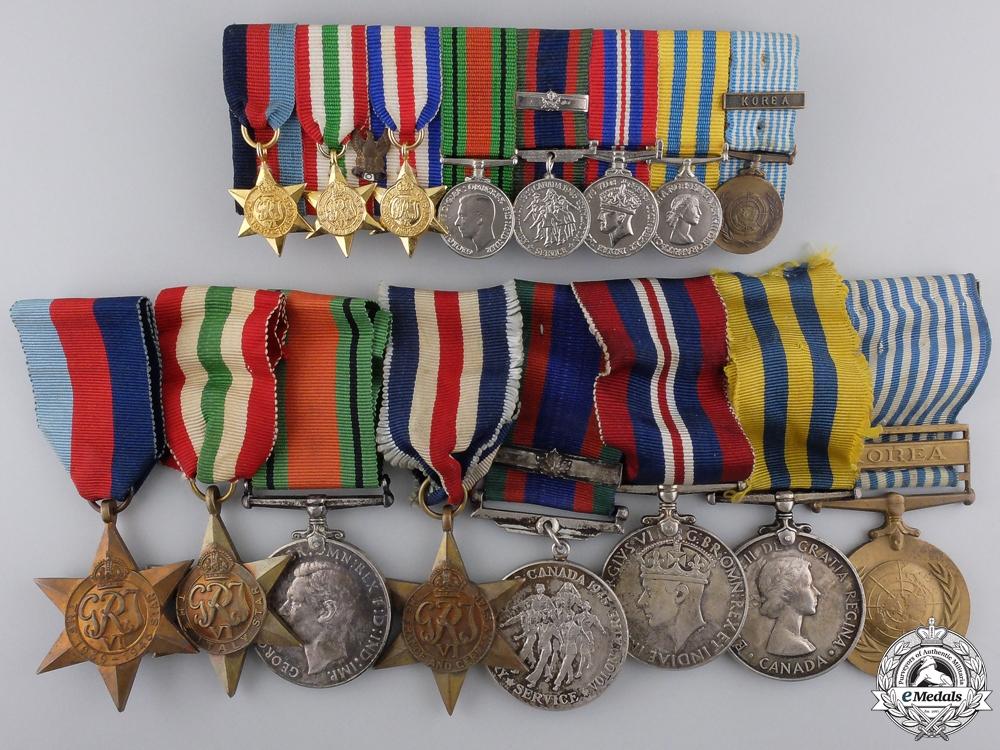 A Canadian Second War & Korea Medal Bar to C.J. Arsenault