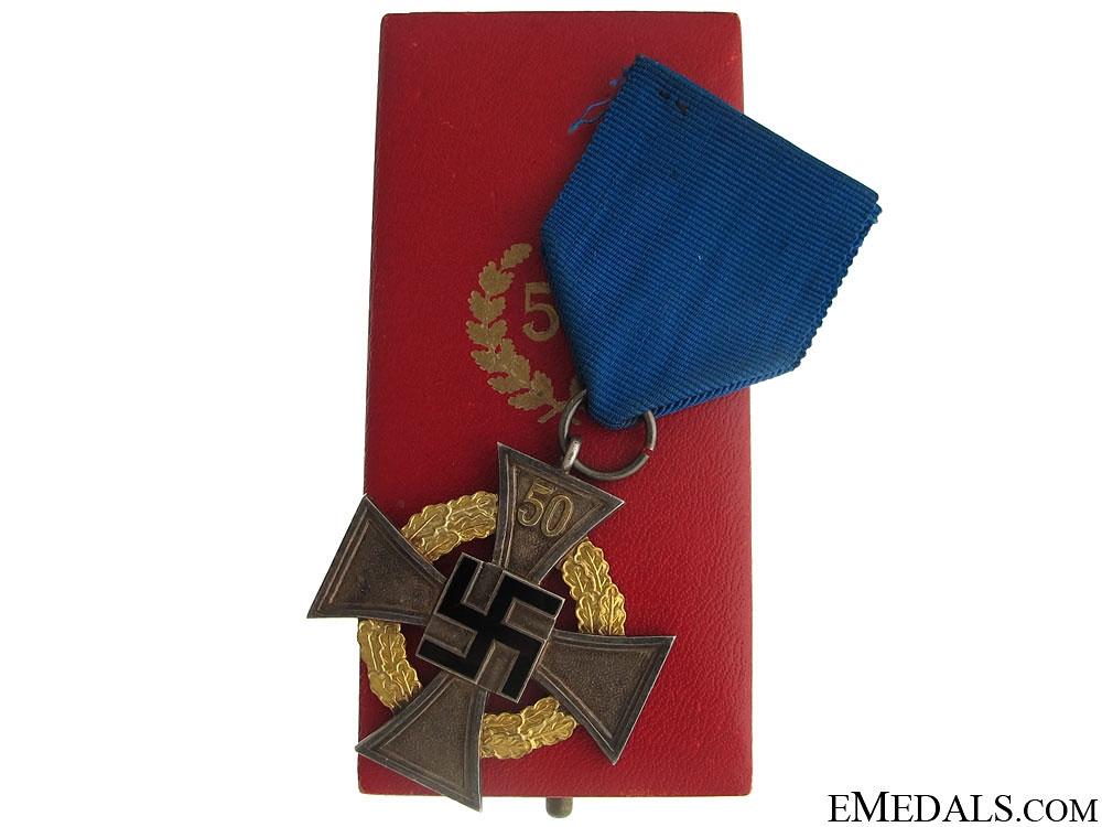 A Cased 50 Year Faithful Service Cross