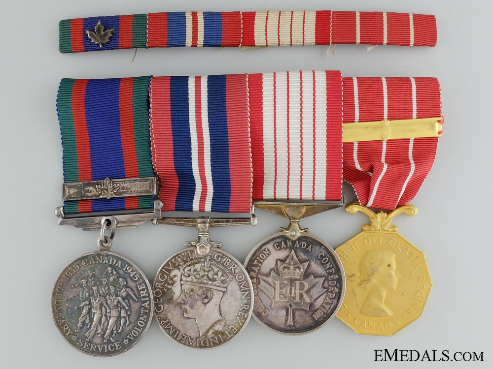 A Centennial & Canadian Forces Decoration Medal Bar to Capt. Martin