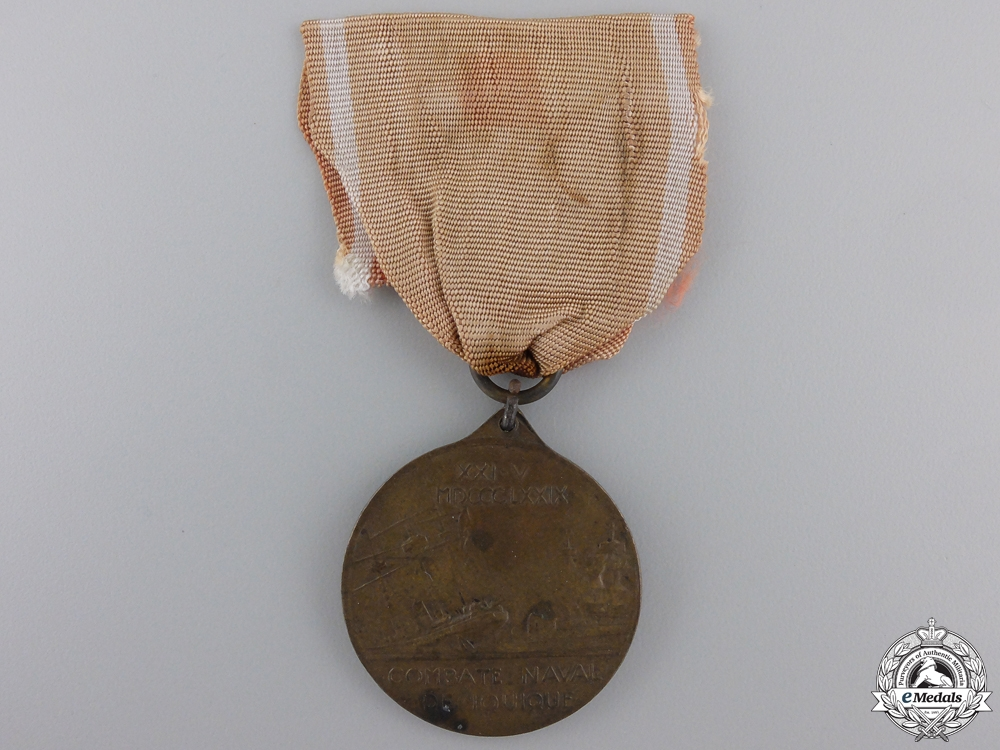 A Chilean 1879 Battle of Iquique Naval Medal