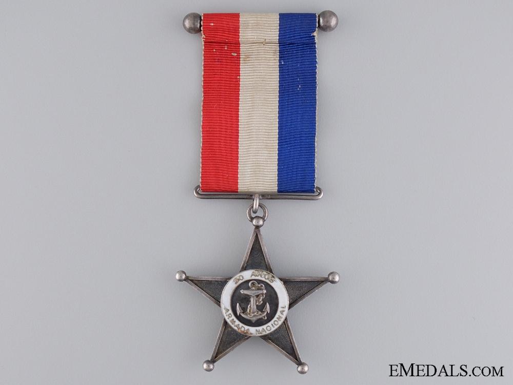 A Chilean Twenty Year Navy Service Star