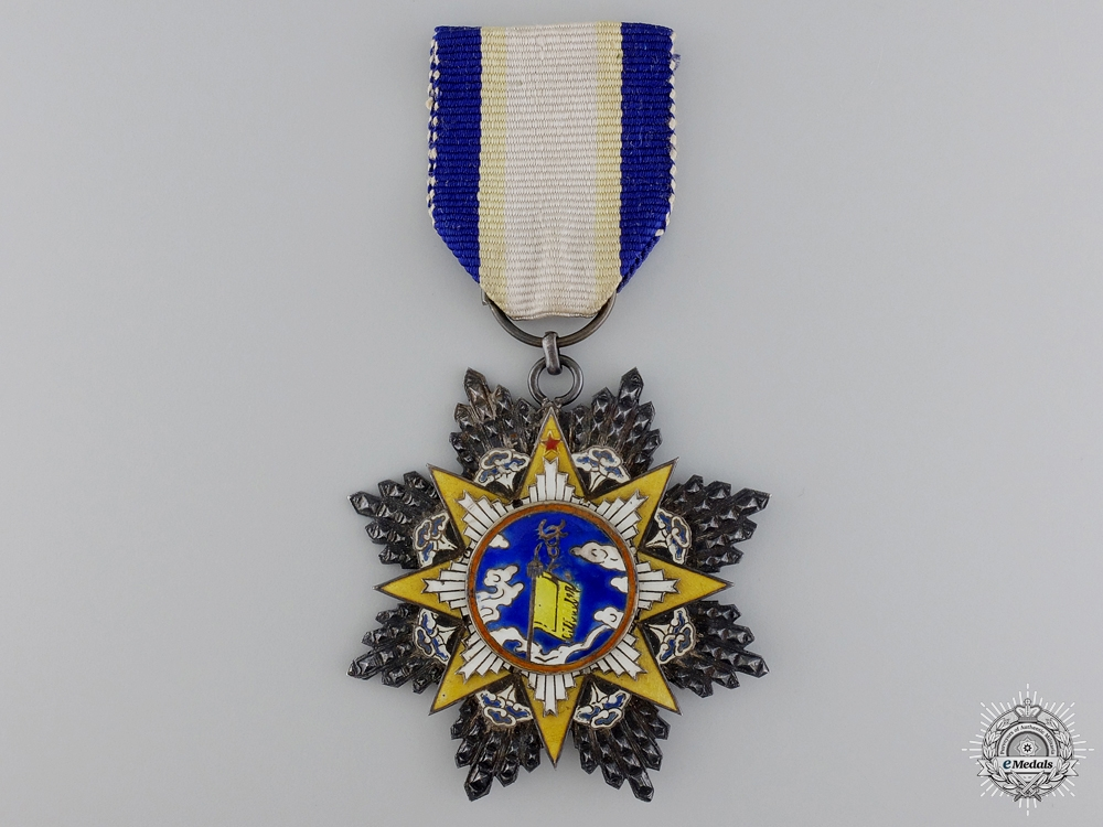 A Chinese Order of the Resplendent Banner; 9th Class Knight