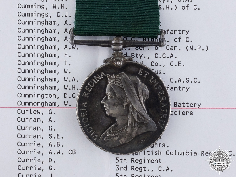 A Colonial Auxiliary Forces Long Service Medal