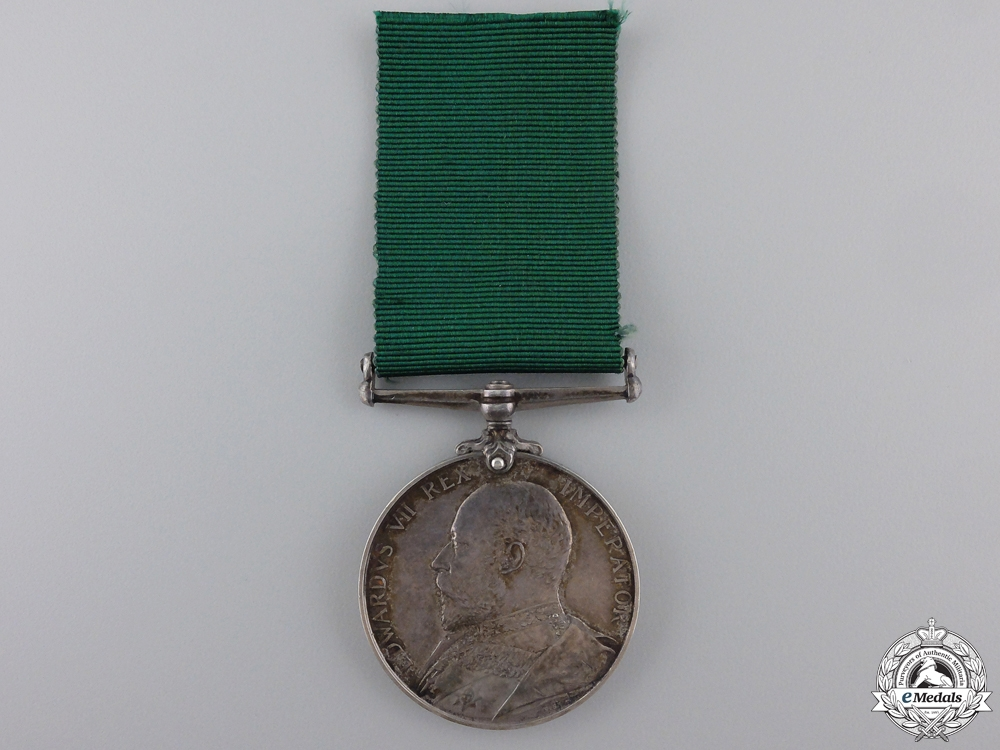 A Colonial Auxiliary Forces Long Service Medal to the 7th Australian Infantry Regiment