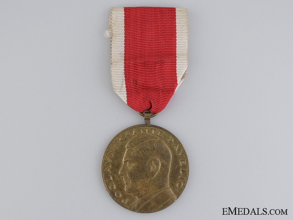 A Croatian Ante Pavelic Bronze Bravery Medal