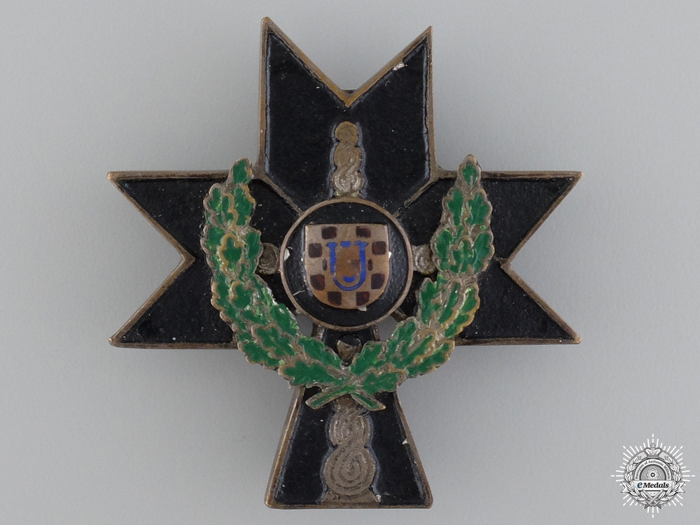 A Croatian Order of Iron Trefoil 1941-45; 2nd Class with Oakleaves