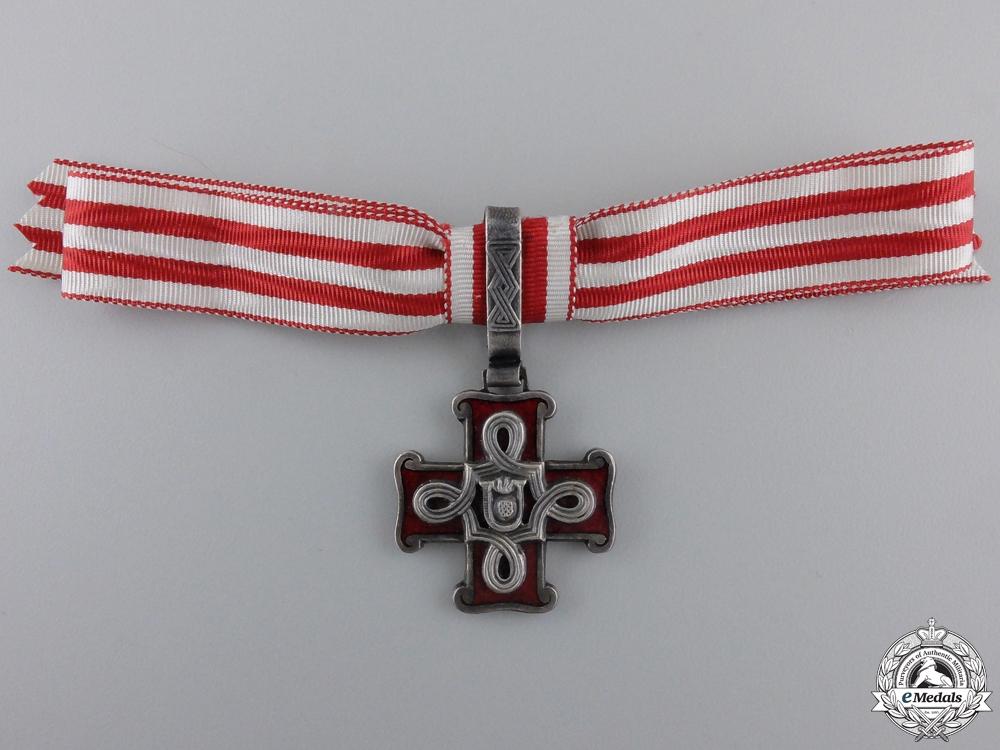 A Croatian Order of Merit; Third Class Lady's Cross