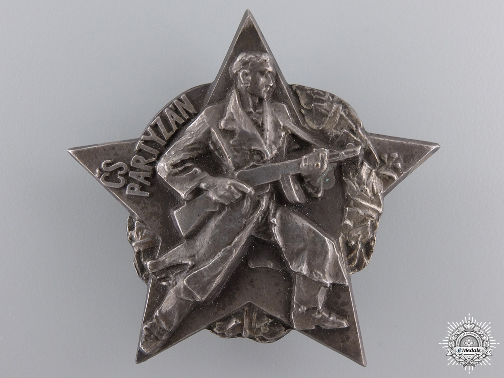 A Czechoslovakian Partisan Decoration in Silver