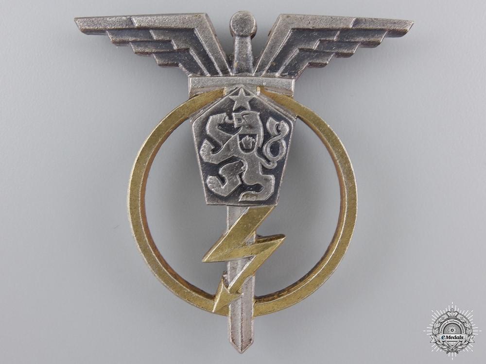 A Czechoslovakian Socialist Air Force Radio Telegraphist Badge; 3rd Class