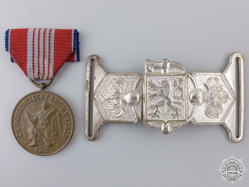 A Czechoslovakian Insignia and Award