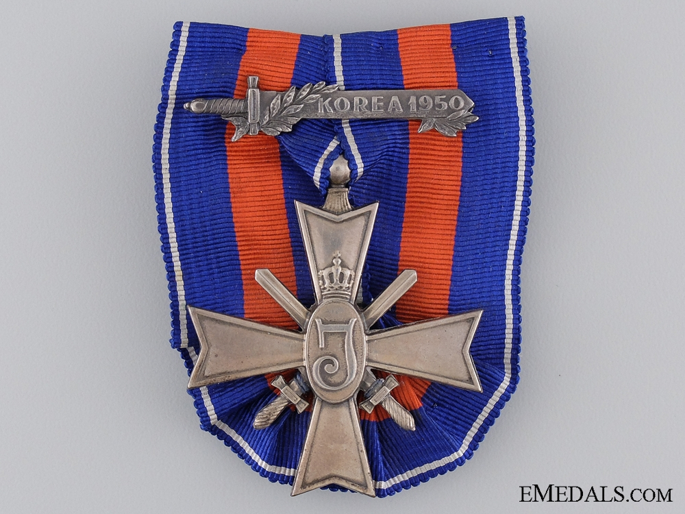A Dutch Cross for Freedom with Korea Clasp