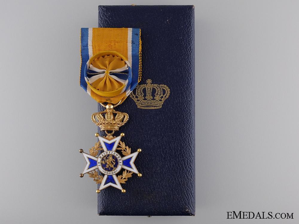 A Dutch Order of Orange-Nassau in Gold; Officers Cross