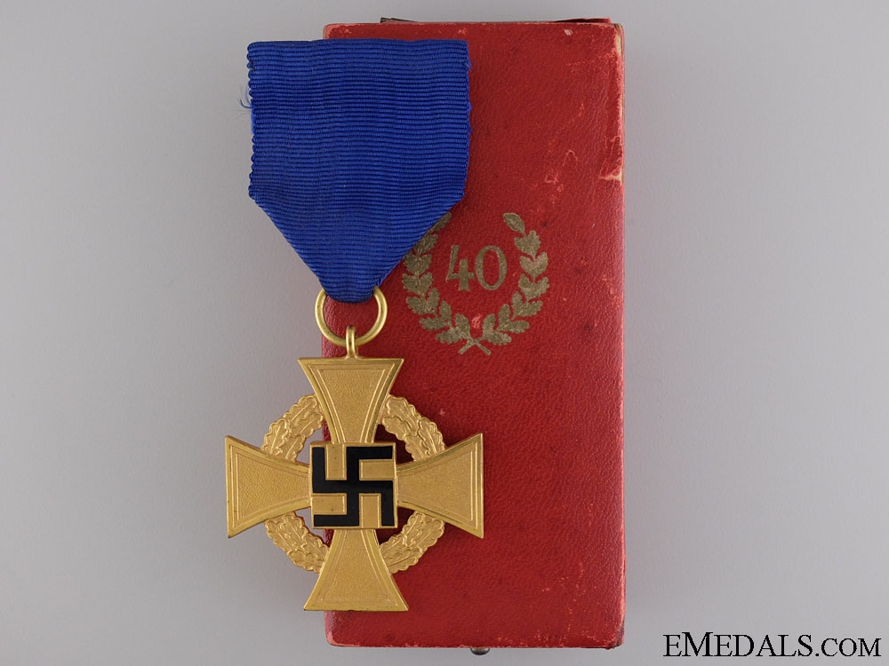 A Faithful Service Decoration; 1st Class for Forty Years'