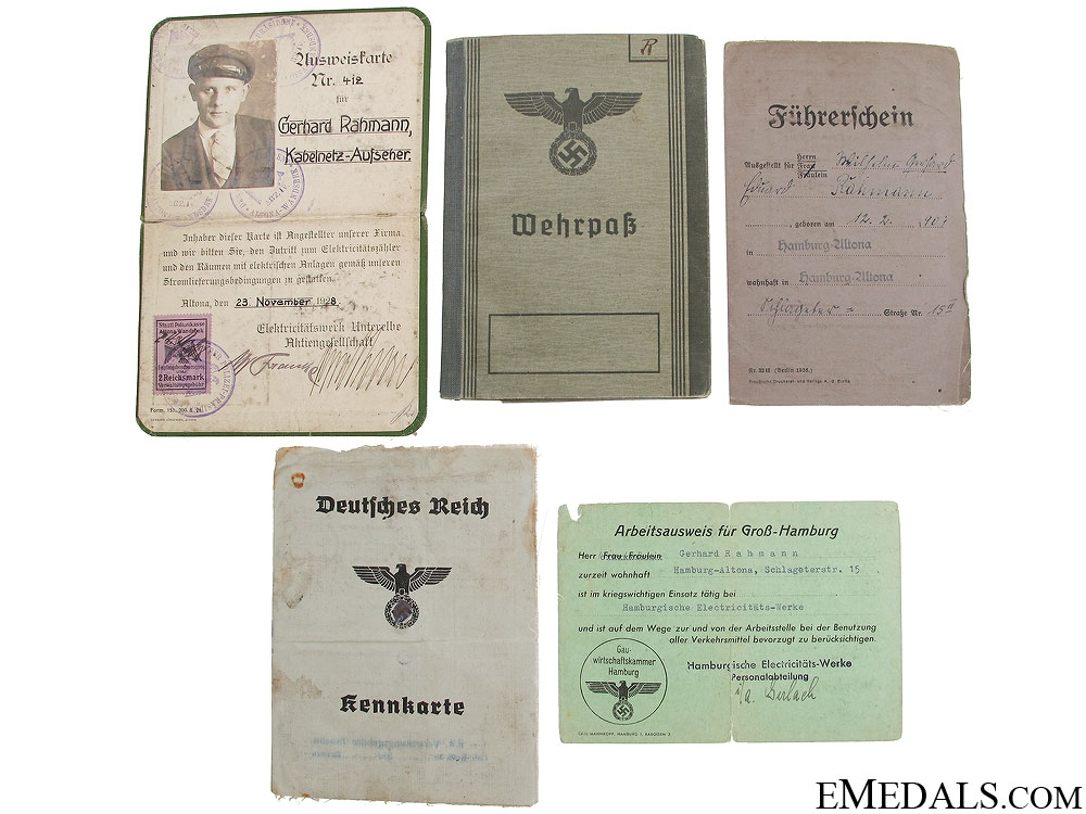 A Family Group of Identification and Documents