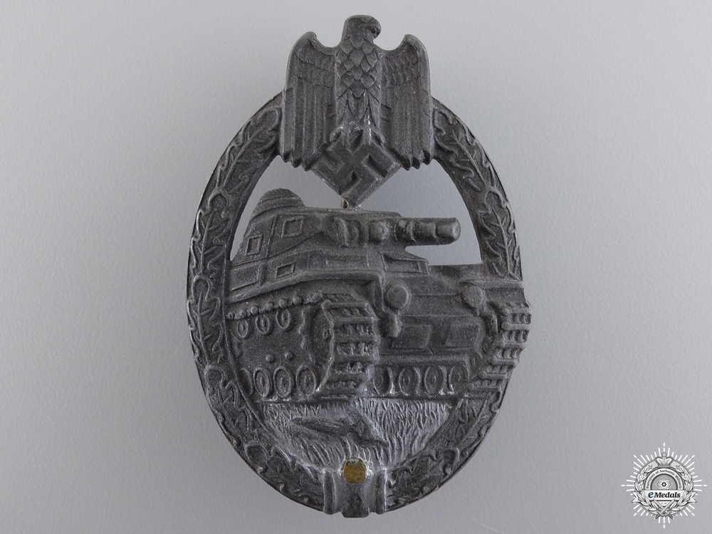 A Field Repaired Tank Assault Badge by Karl Wurster K.G.