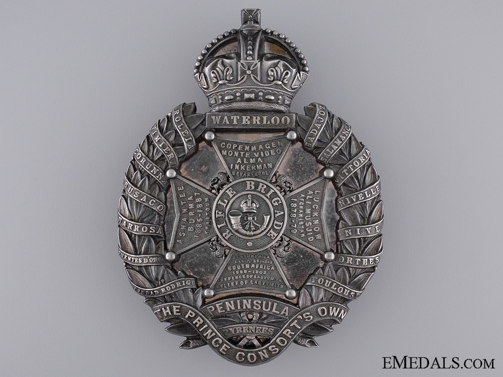 A Fine 1918 Sterling Silver Rifle Brigade Cross Belt Plate