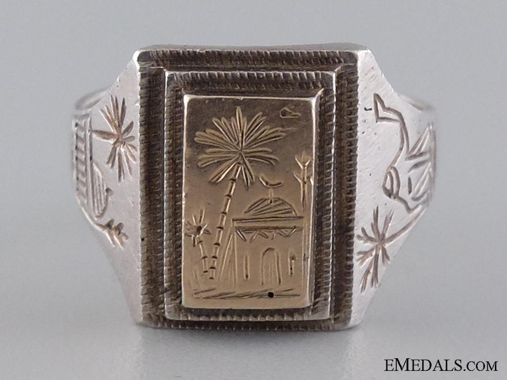A Fine Afrikakorps Silver & Gold Ring